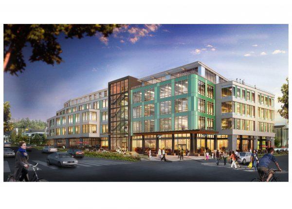 Brooks green building headquarters Seattle, WA