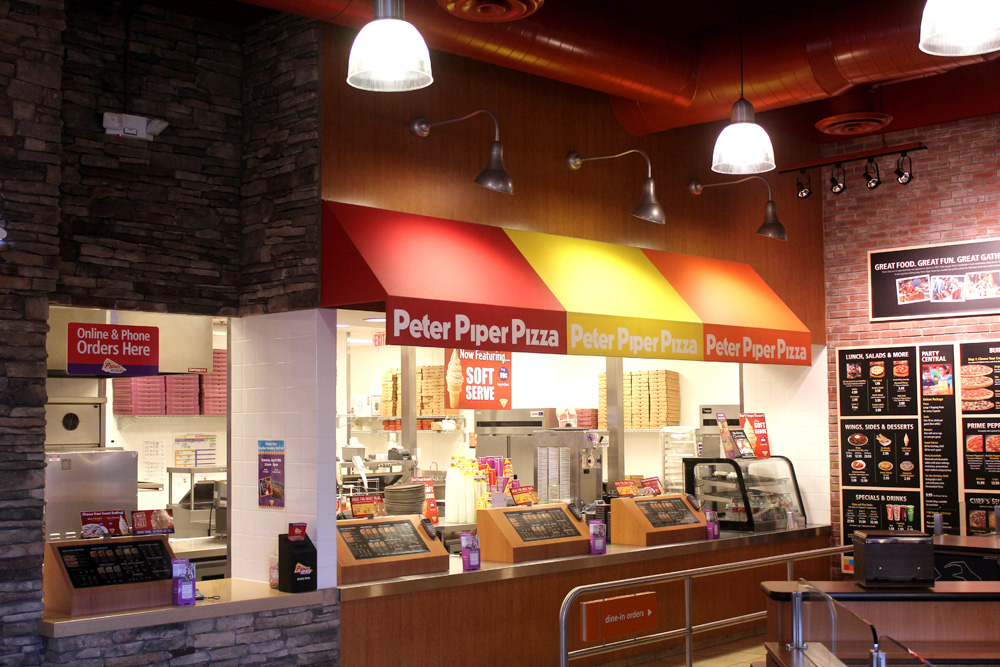Peter Piper Pizza counter area