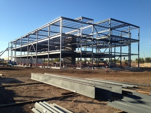 Phoenix Sky Harbor Terminal 3 Steel Erection Under Construction